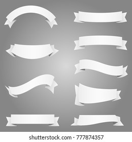 banner frame ribbon tag pattern label design