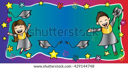 banner graduation kids stock vector royalty free 429144748