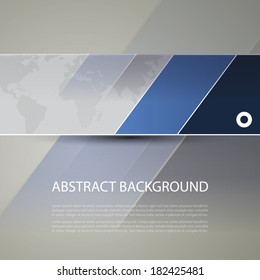 Banner or Header Design with World Map Background