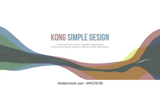 Banner header website abstract colorful style