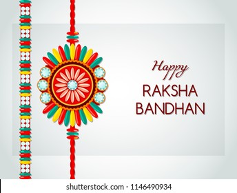 The banner in honor of the Indian holiday Raksha Bandhan with beautiful illustrations in a creative background. cute little sister and brother with a gift, preparing for Rahi. flat vector illustration