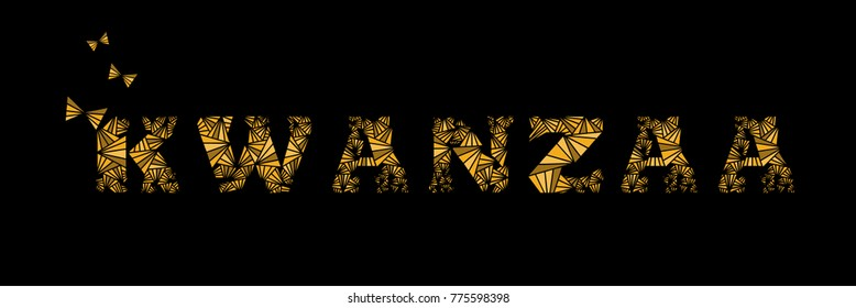 banner kwanzaa with modern ethnic design and comfortable views. vector.