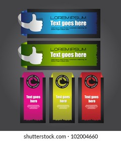 banner with like labels