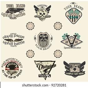 banner logo vintage