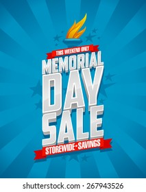 Banner for Memorial day sale, storewide savings.
