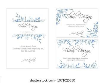 Banner on flower background. Wedding Invitation, modern card Design. eps 10.