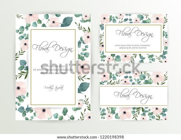 Banner On Flower Background Wedding Invitation Royalty