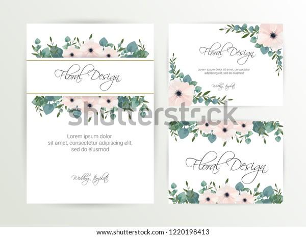 Banner On Flower Background Wedding Invitation