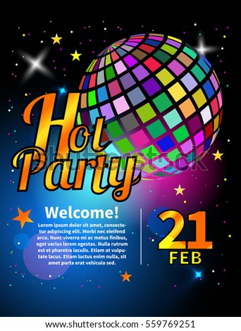 banner party flyer nightclub ball invitation stock vector royalty