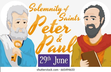 Banner with portraits and reminder date for the Solemnity of Saints Peter and Paul in June 29.
