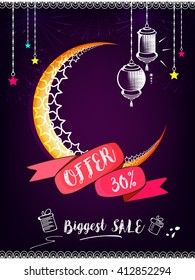 Banner, Poster, or Flyer Design for Sale, Discount or Offer on the occasion of Ramadan Kareem or Eid Mubarak .