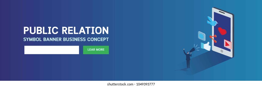 Banner pr public relation.