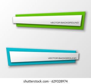 Banner presentation, vector ribbon information. Graphic composition business presentations. Four glossy banners strip your annotations. Four color sticker banner for registration of proposals ribbon