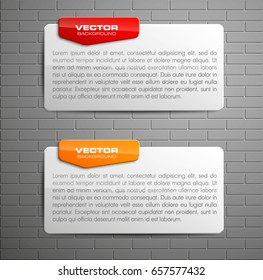 Banner presentation, vector shape information. Graphic shape composition business presentations. banners strip your annotations. Color sticker banner for registration of proposals ribbon