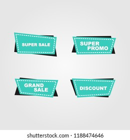 Banner and ribbon design for sale promo discount and special offers, for posters, flyers, tags, labels and background.