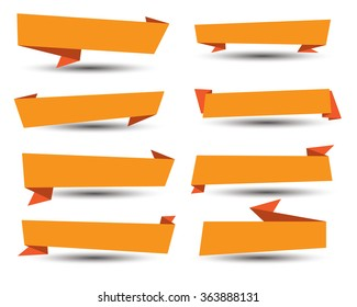 Banner ribbon vector set