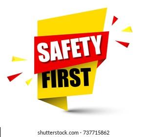 banner safety first