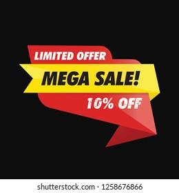 Banner Sale Offer. Vector Illustration Eps 10