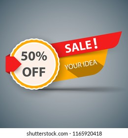 Banner sale for your idea. Vector eps 10
