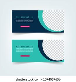 Banner set design. Abstract colorful design. poster, Gift card, Facebook cover. Sale Tag. Facebook Banner
