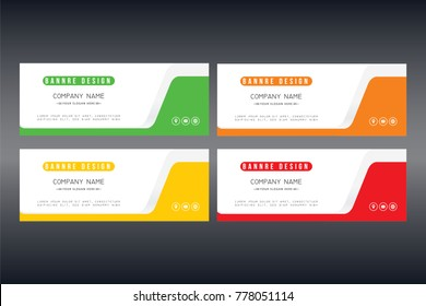 Banner set design. Abstract colorful design. Red banner. green poster. black and red banner template. Gift card