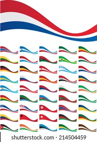 banner set of flags of world