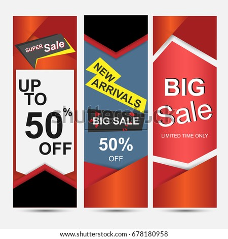 banner set templates big sale background stock vector royalty free