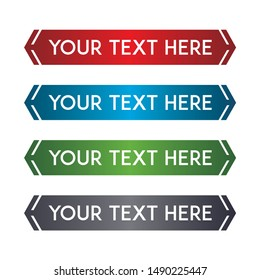 banner set, text box, title box, speech text, speech title, frame text, frame title, text border, title border