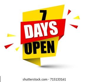 banner seven days open