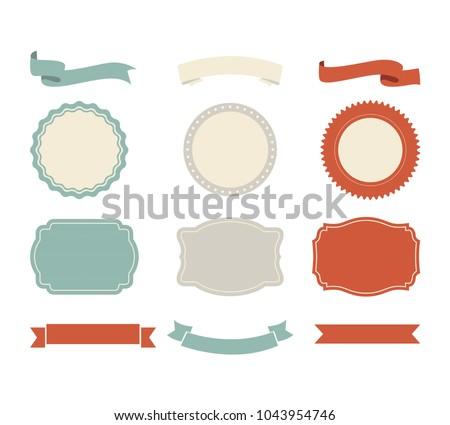 banner shape vector design ribbon label のベクター画像素材