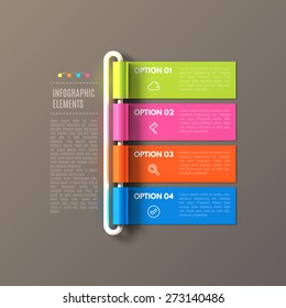 Banner steps business infographic template. Can be used for web design and workflow layout