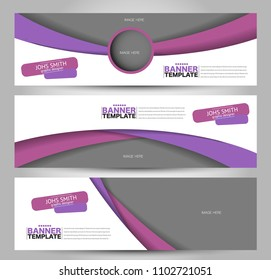 Banner template. Abstract background for design,  business, education, advertisement. Purple color. Vector  illustration.