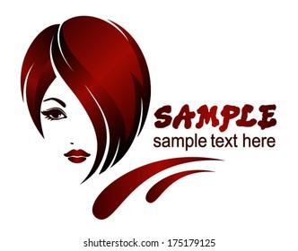 Banner Template Beauty Salon Hair Styles Stock Vector Royalty Free 175179125