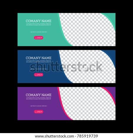 banner template design facebook banner set stock vector royalty