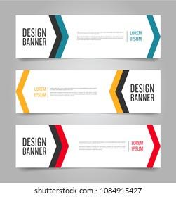 Banner Template Design Horizontal Advertising Modern