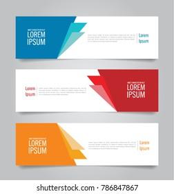 Banner template design. Horizontal advertising banner.