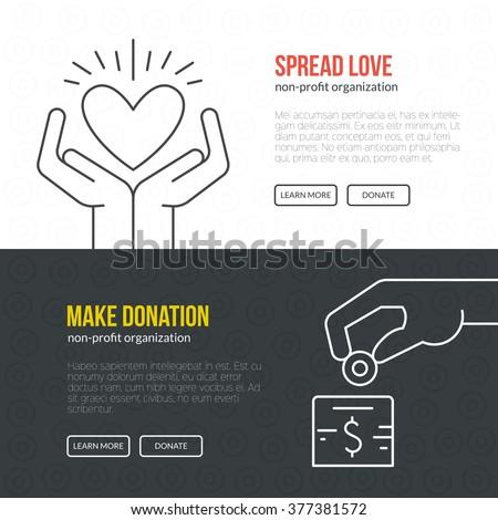 Banner Template Fundraising Event Nonprofit Organization Stock
