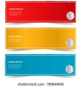 banner template illustration isolated on white background vector