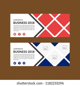 Banner template layout design. facebook cover, catalog. Creative modern concept with squares, rombs and urban styled photo. more photo collage.