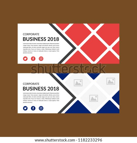 Banner Template Layout Design Facebook Cover Stock Vector Royalty