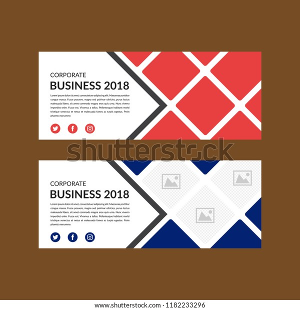 Banner Template Layout Design Facebook Cover Stock Vector