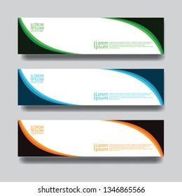 banner template web  abstrack geometric  simple modern