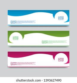 banner template web abstrack modern