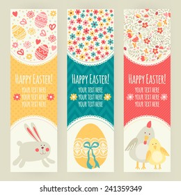 Banner templates. Happy Easter!