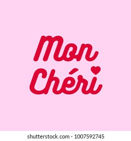 Banner with Text in French: Mon Chéri