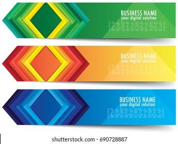 Banner vector design