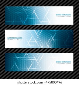 Banner vector design background technology template collection business advertising