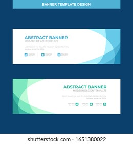 Banner Vector Template Background Modern Web Design Horizontal