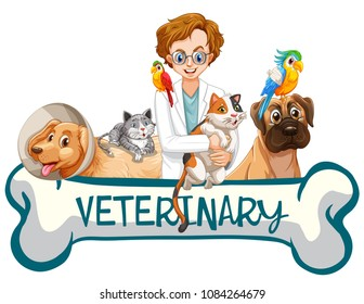 A Banner of  Veterinary Clinic illustration