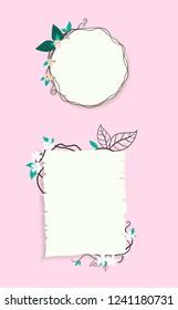 Banner for wedding card or festival